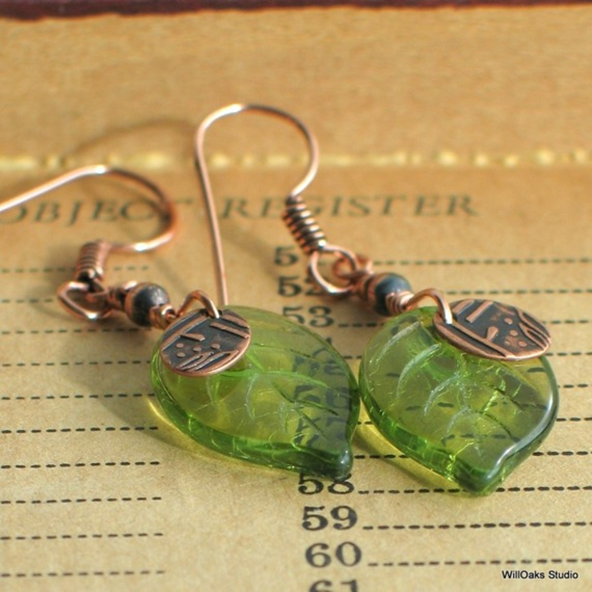 Pair leaf beads with simple charms or accent beads and unique wire for elegant earrings.
