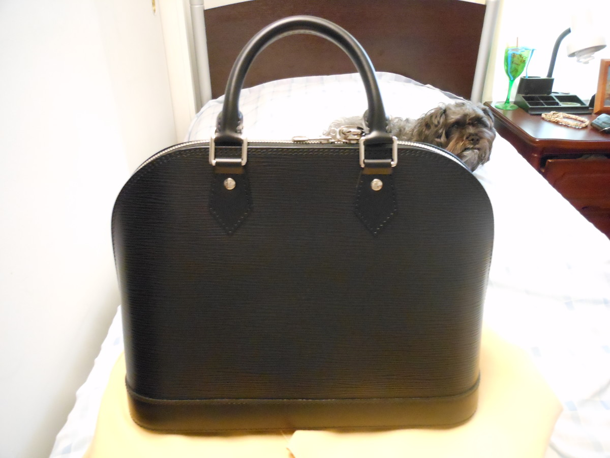 LV (Louis Vuitton) Epi Alma Noir (black) bag Review