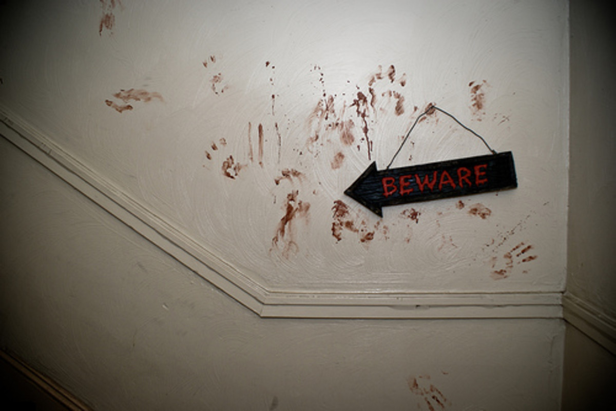 Bloody Handprints in the Halls, Bloody handprints on the walls...
