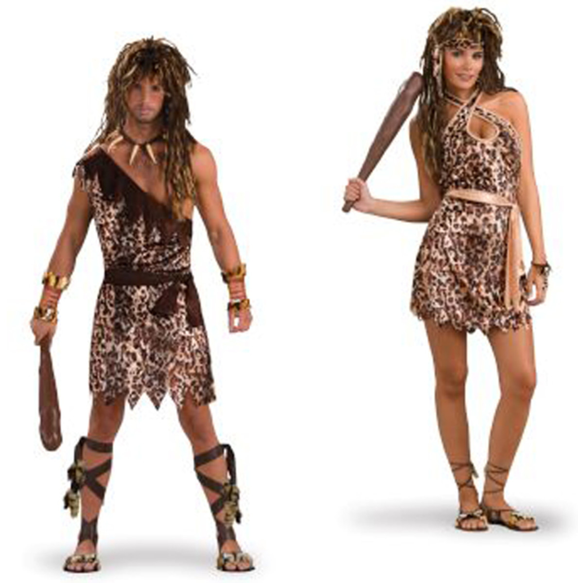 The Cave Man and Cave Woman Couples Costume