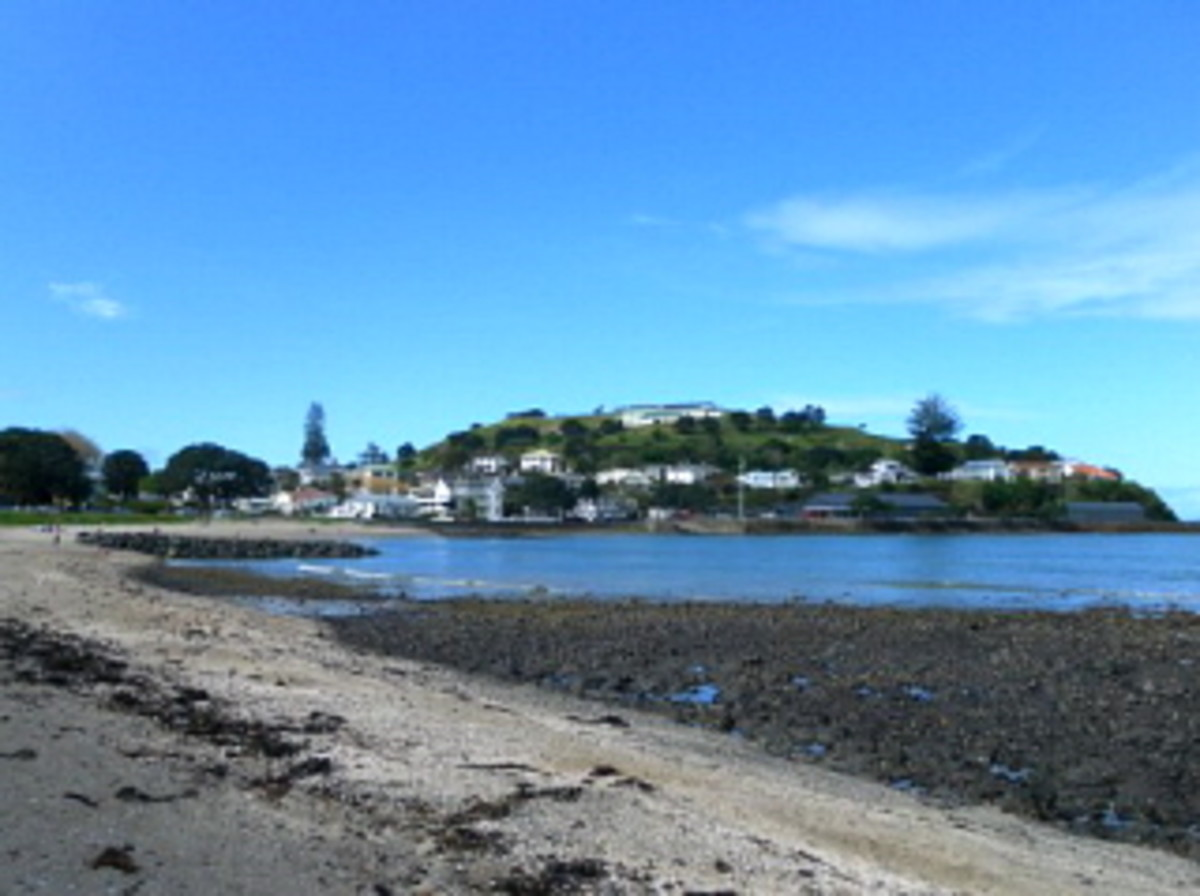 Devonport with North Head in the distance