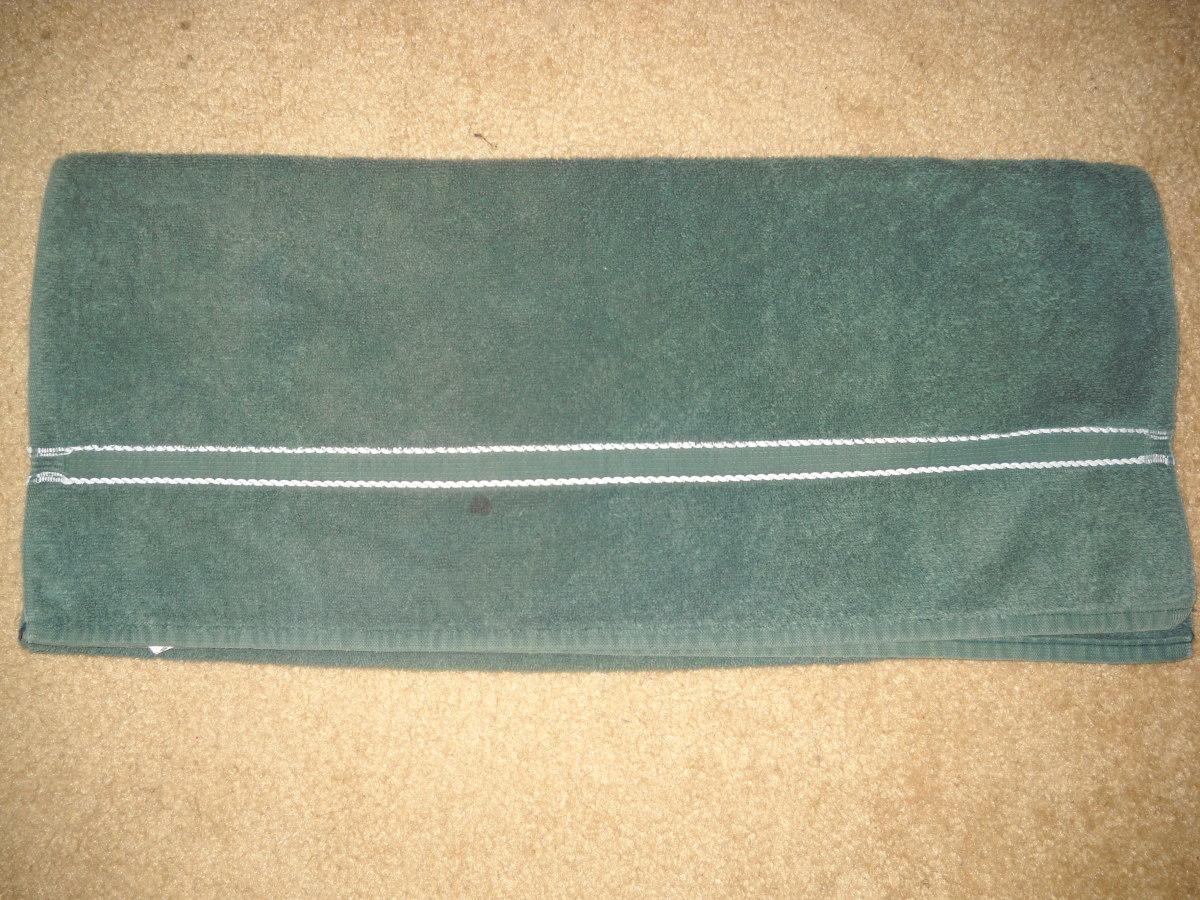 Towel half folded in half.