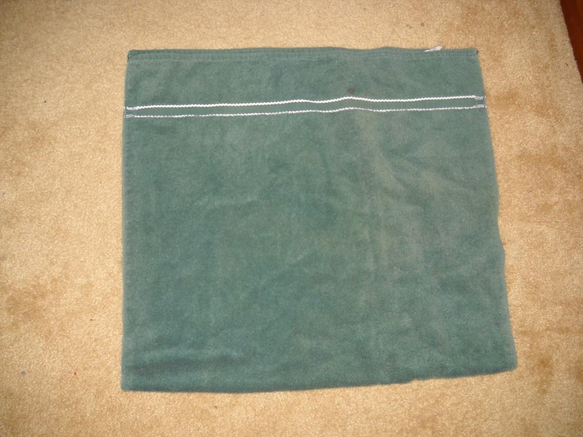 Towel folded in half