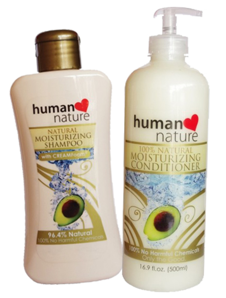 Human Nature Natural Moisturizing Shampoo & Hair Conditioner, 100% No Harmful Chemicals