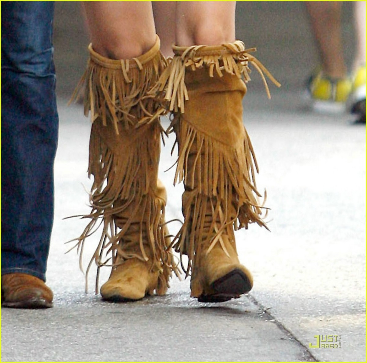 Tall Fringe Boot