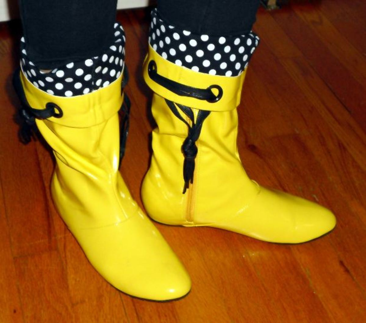 Yellow Fashion Boots