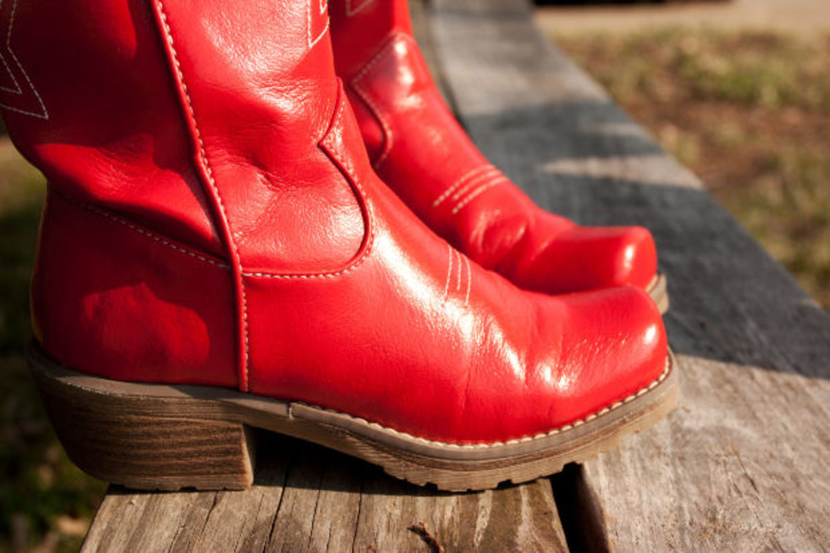 Women's Red Cowboy Boots