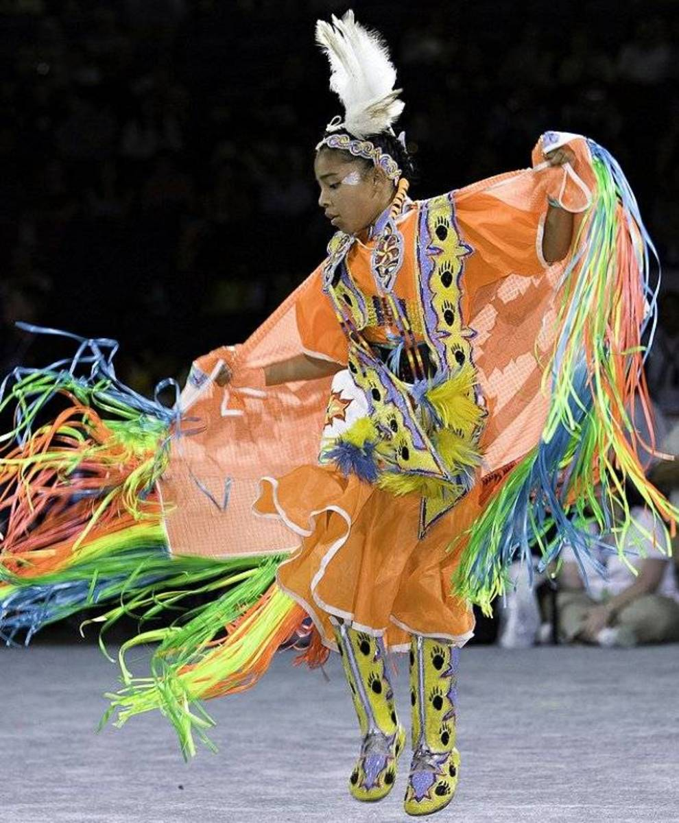Indian Woman Pow Wow Dance