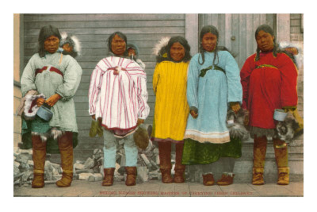 Eskimo Women in Mukluk Boots