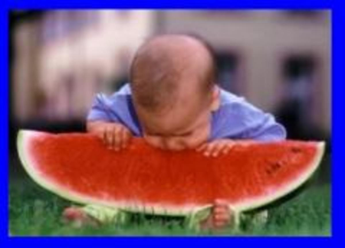 Watermelon without seeds is vitamin rich and an excellent source of water.