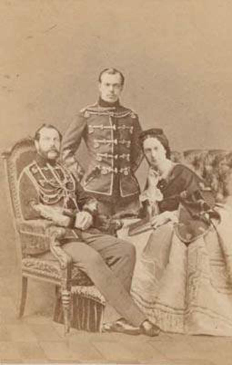 Alexander II, his first wife Empress AMrie, and his son the future Alexander III