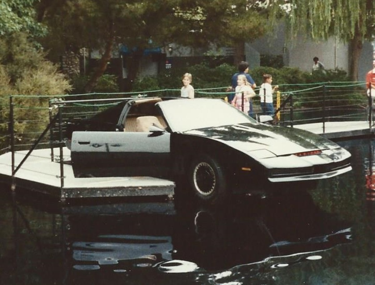 KITT at Universal Studios in 1985.
