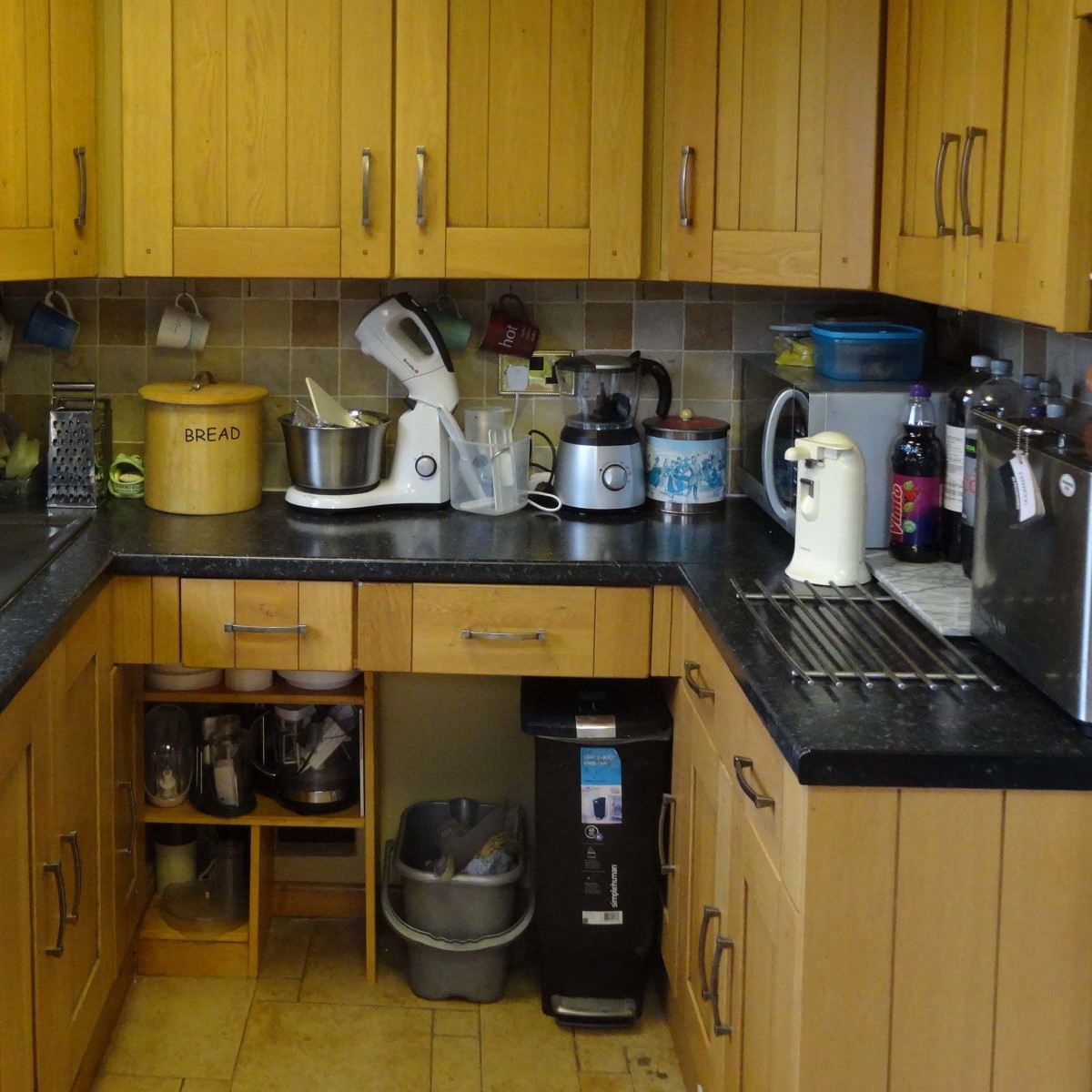 How to make space saving shelving under your kitchen worktop