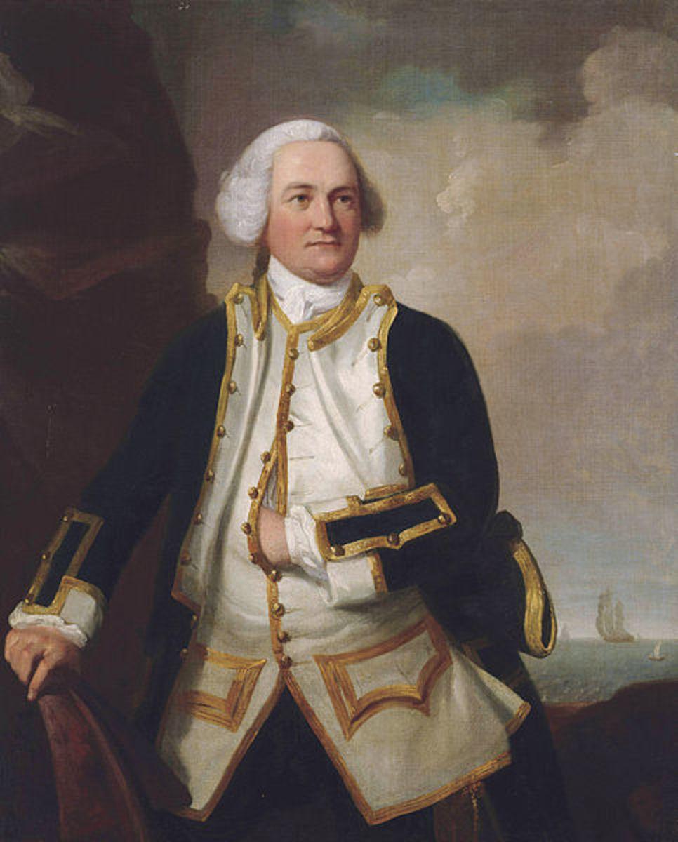 Vice Admiral Samuel Graves, British Royal Navy admiral during  the American Revolutionary War