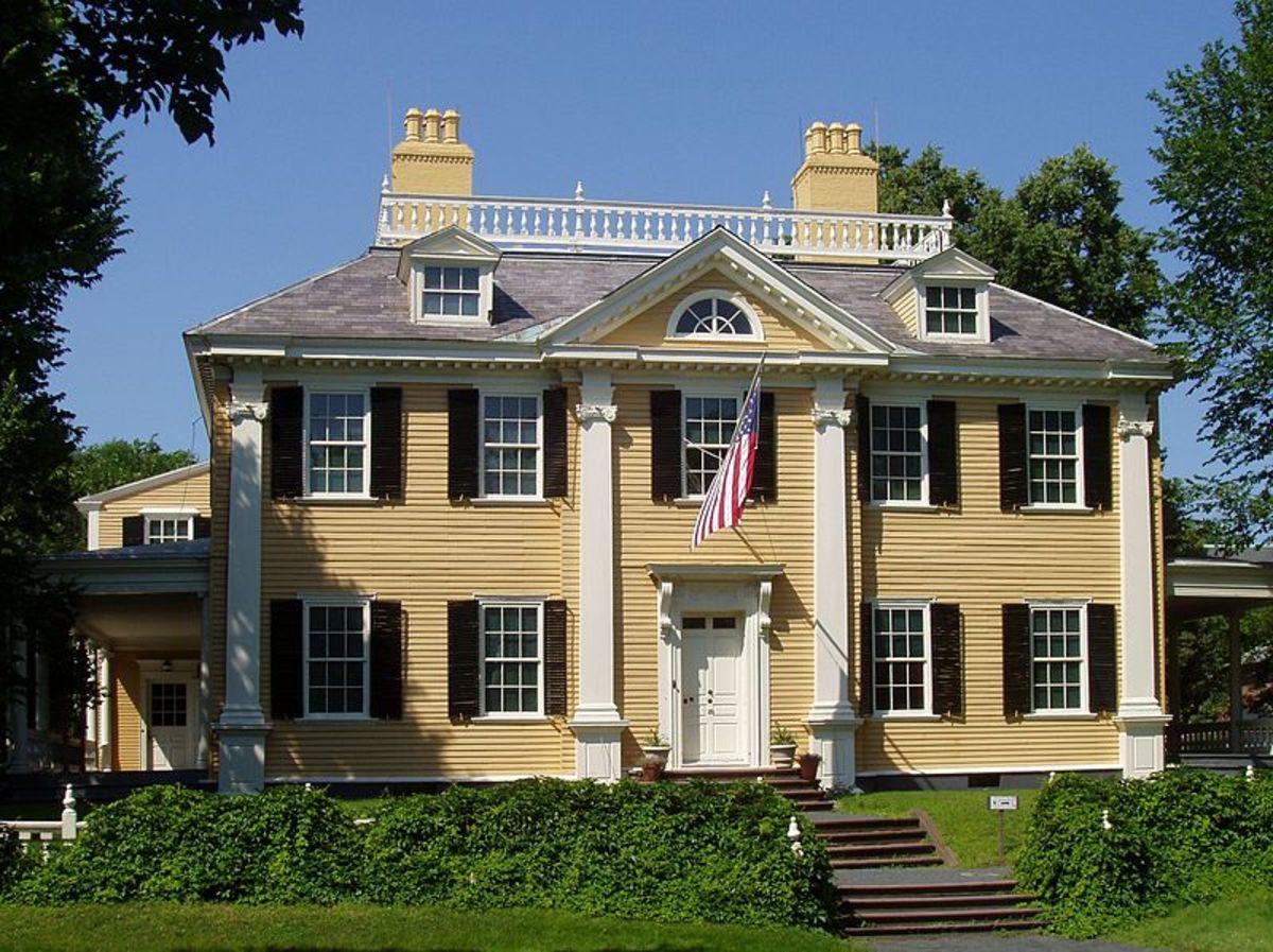 The Longfellow House in Cambridge, Massachusetts