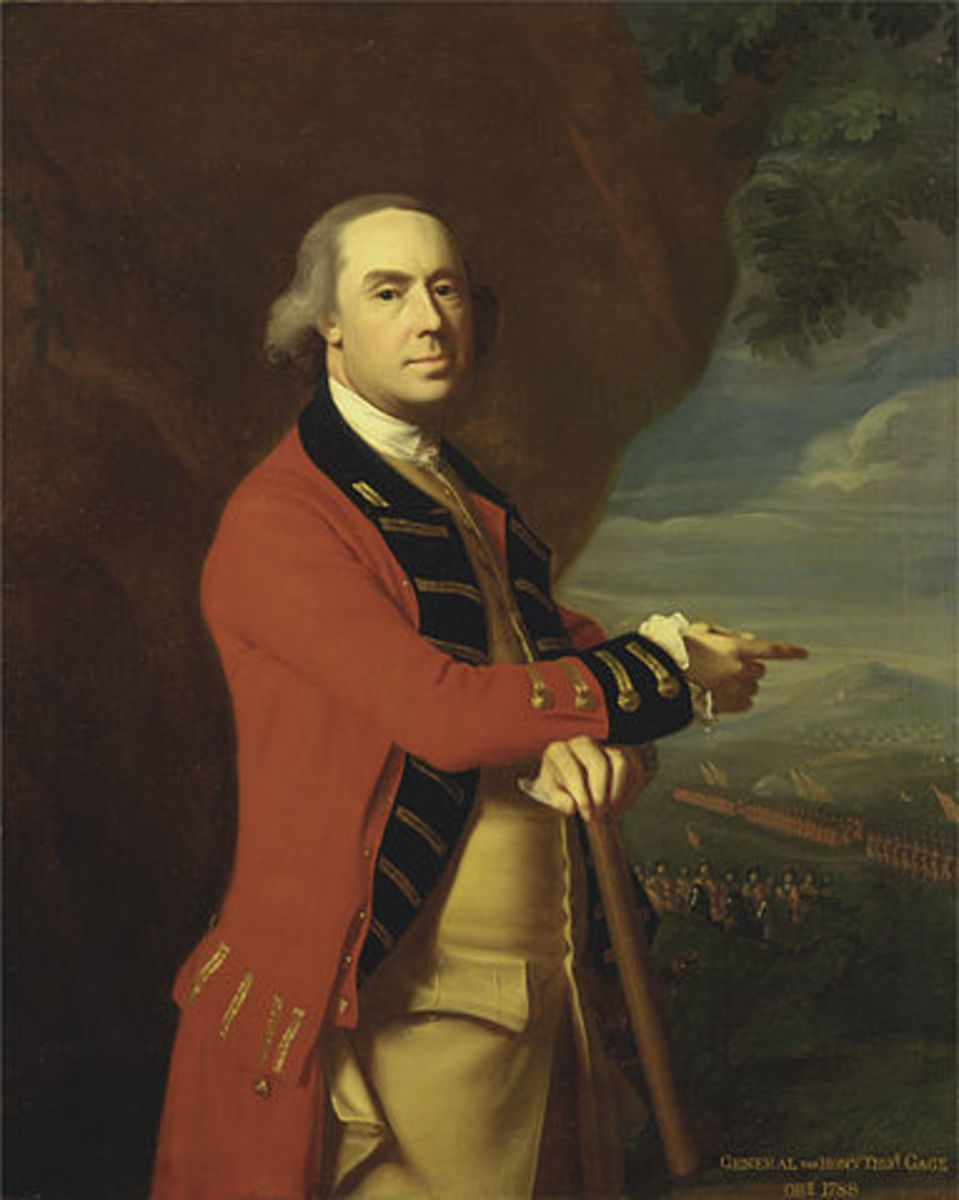 General Thomas Gage, Governor of Boston, Portrait by John Singleton Copley, circa 1768