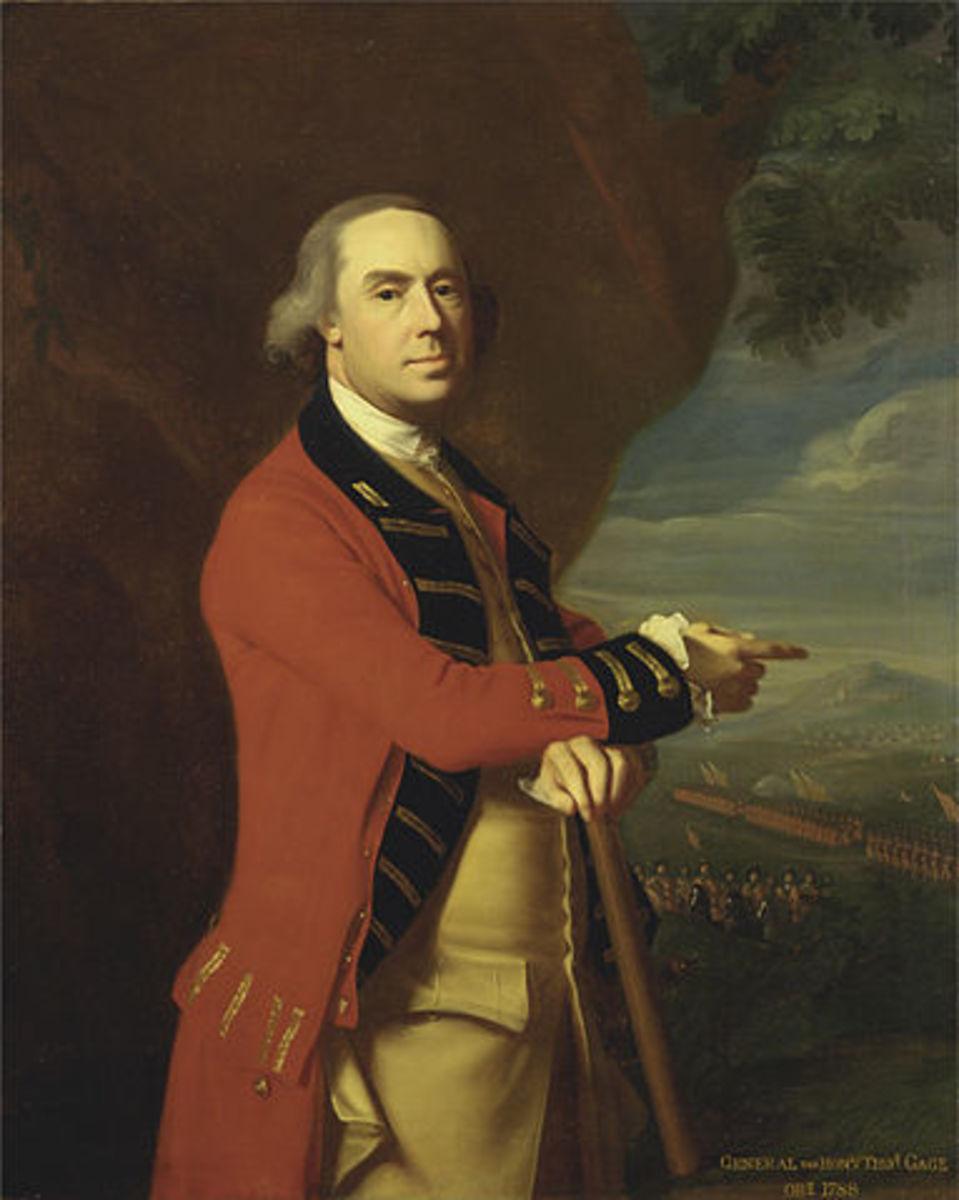 General Thomas Gage, Governor of Boston, Portrait by John Singleton Copley, circa 1768