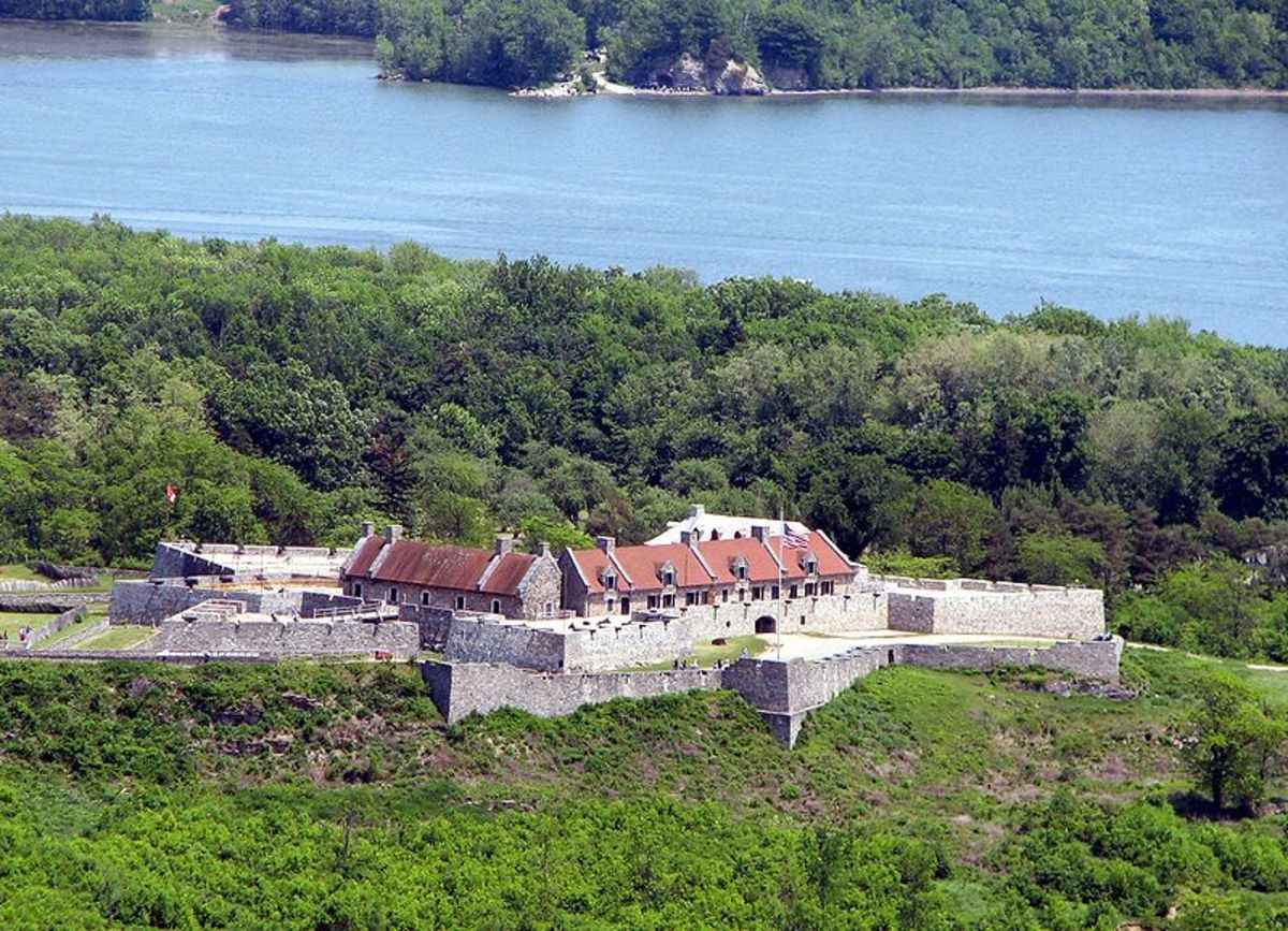 Fort Ticonderoga at south end of Lake Champlain in upstate New York