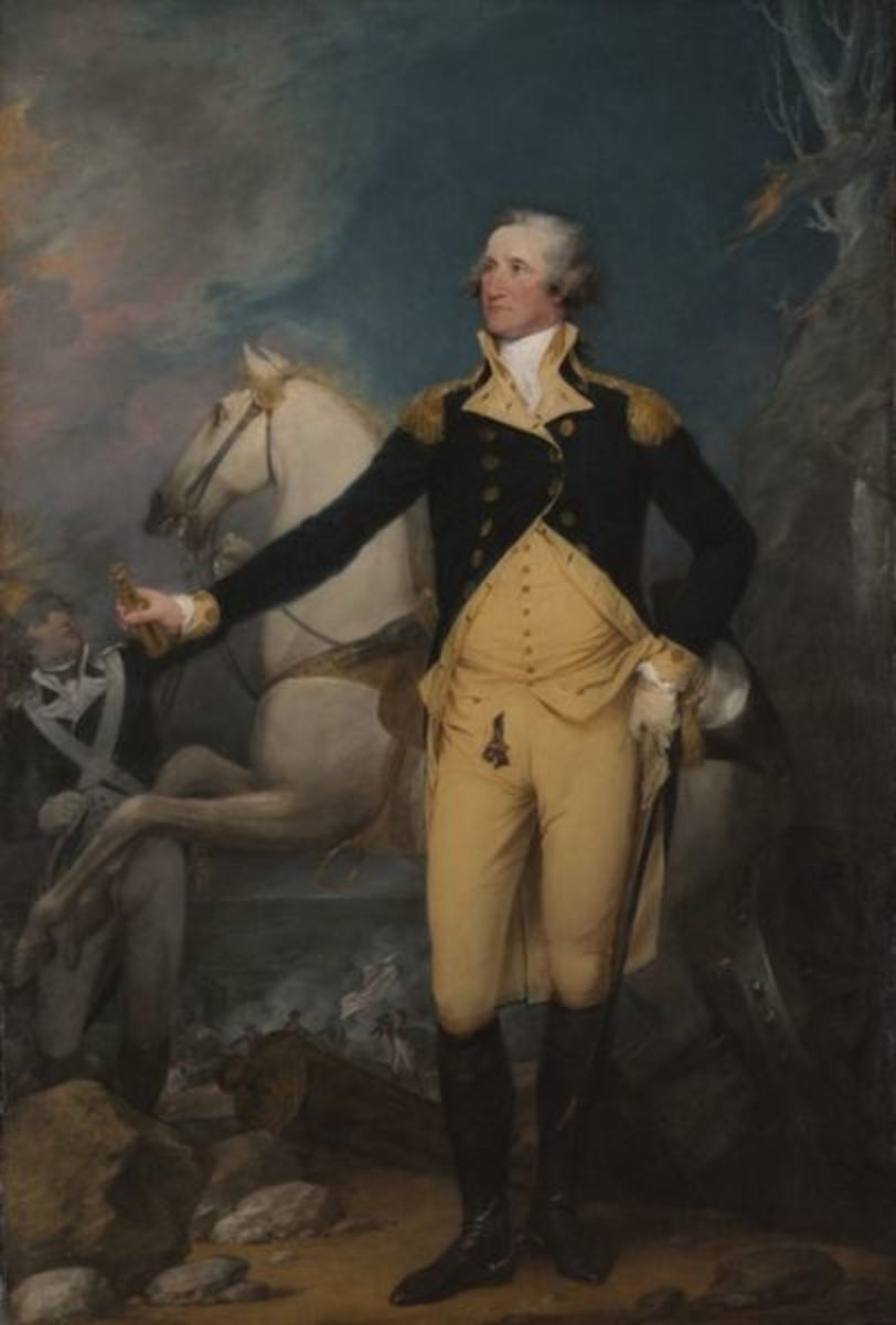 General George Washington at Trenton by John Trumbull, Yale University Art Gallery (1792).