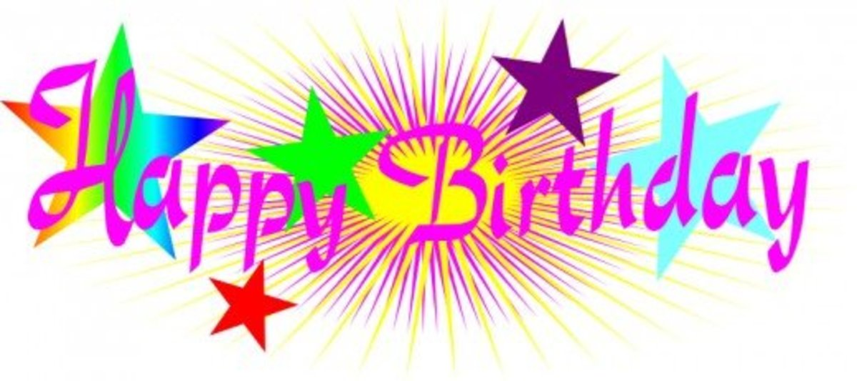 Happy Birthday in Pink Font with Stars