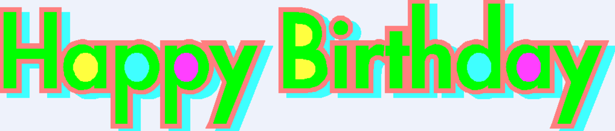 Happy Birthday with Green Font