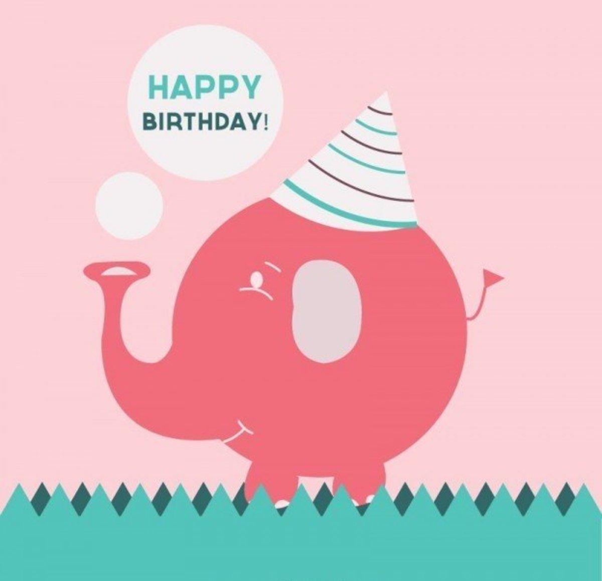 Happy Birthday with Elephant