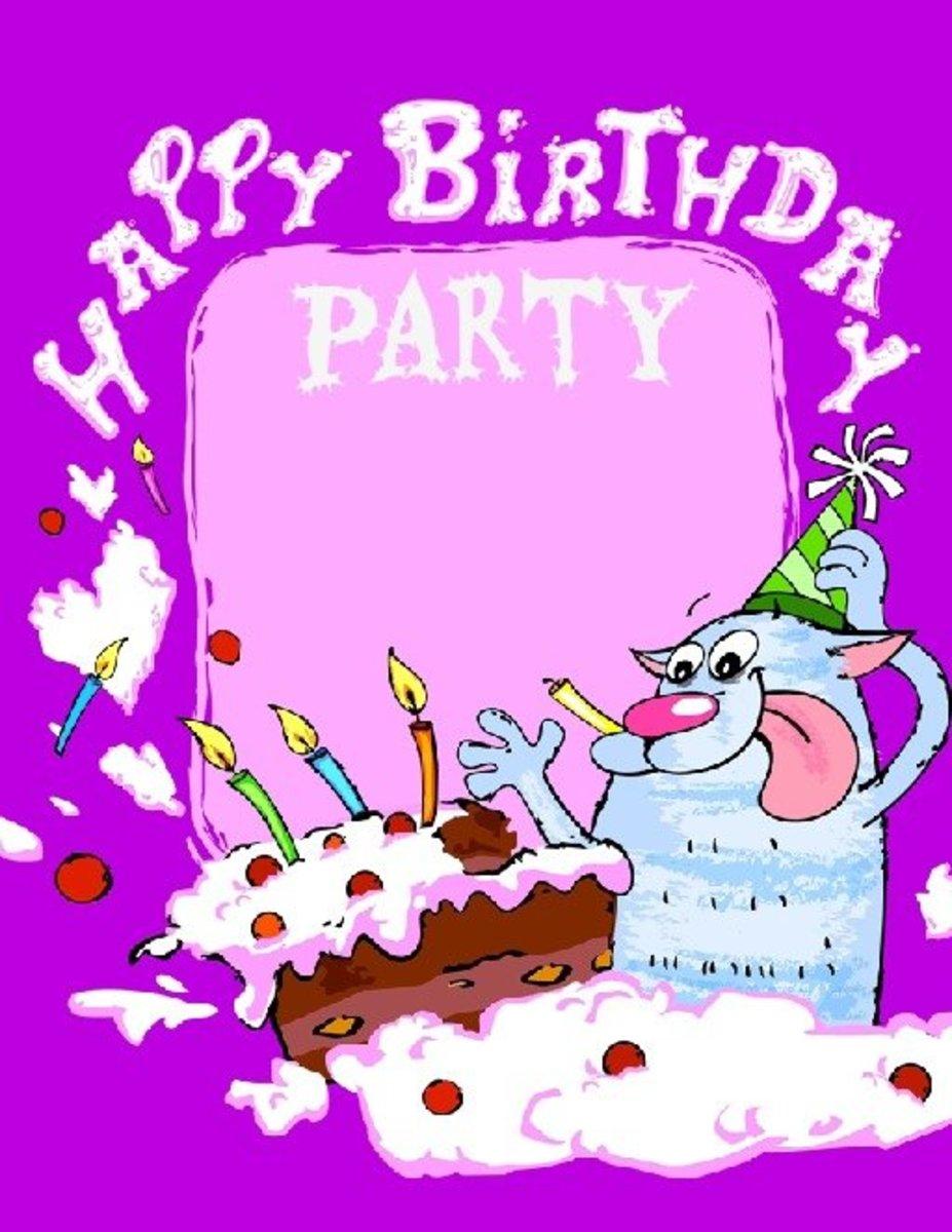 Happy Birthday Party Invitation Template
