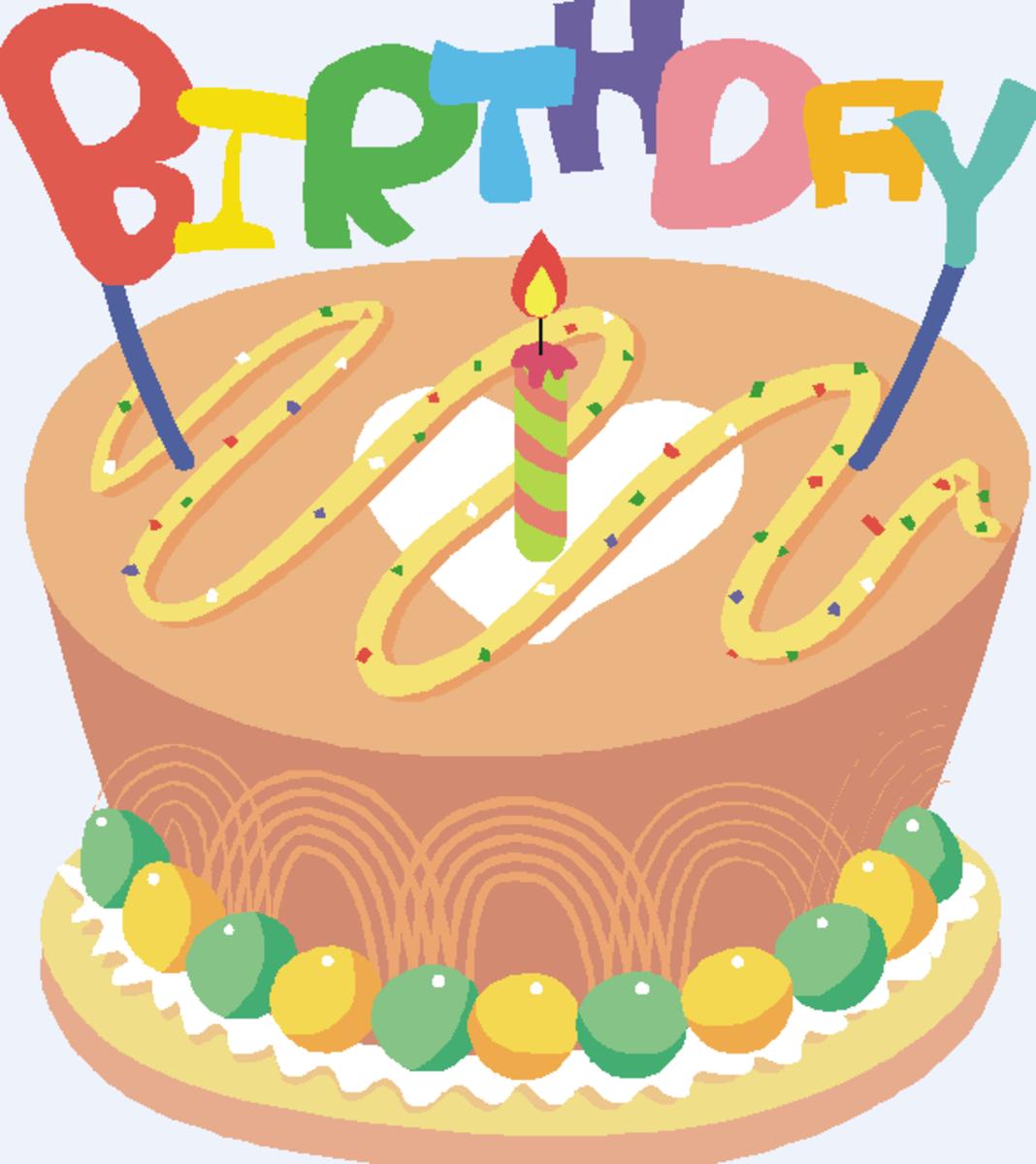 Chocolate Icing on Birthday Cake