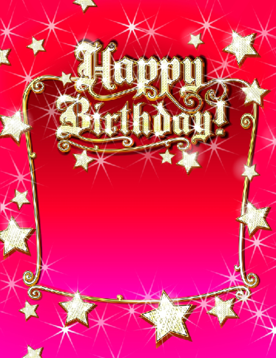 Red and Pink Happy Birthday Party Invitation