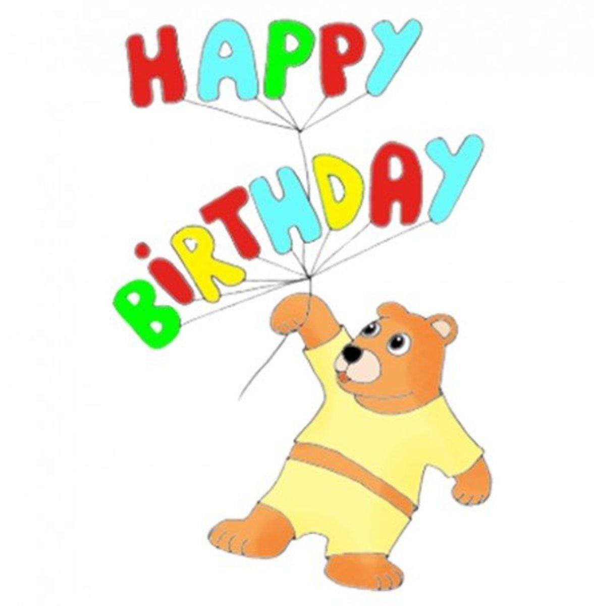Happy Birthday with a Teddy Bear