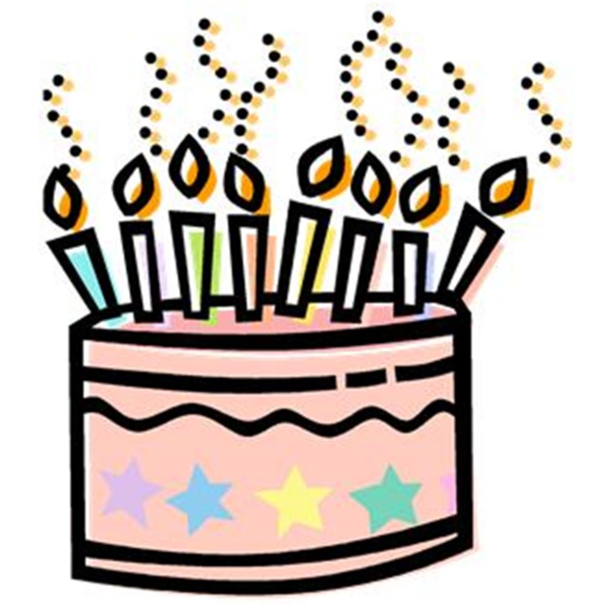 Pink Happy Birthday Cake with Stars