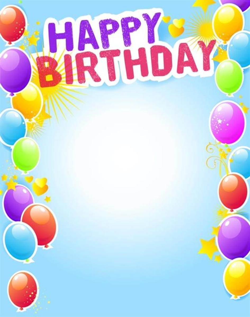 Happy Birthday Party Invitation with Balloons
