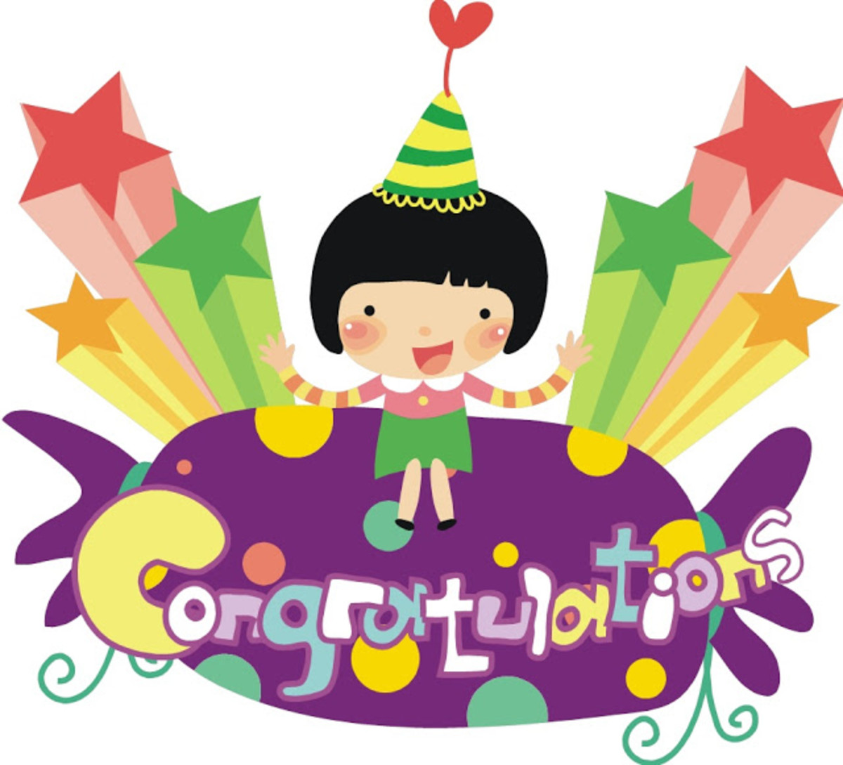 'Congratulations' Birthday Party Graphic