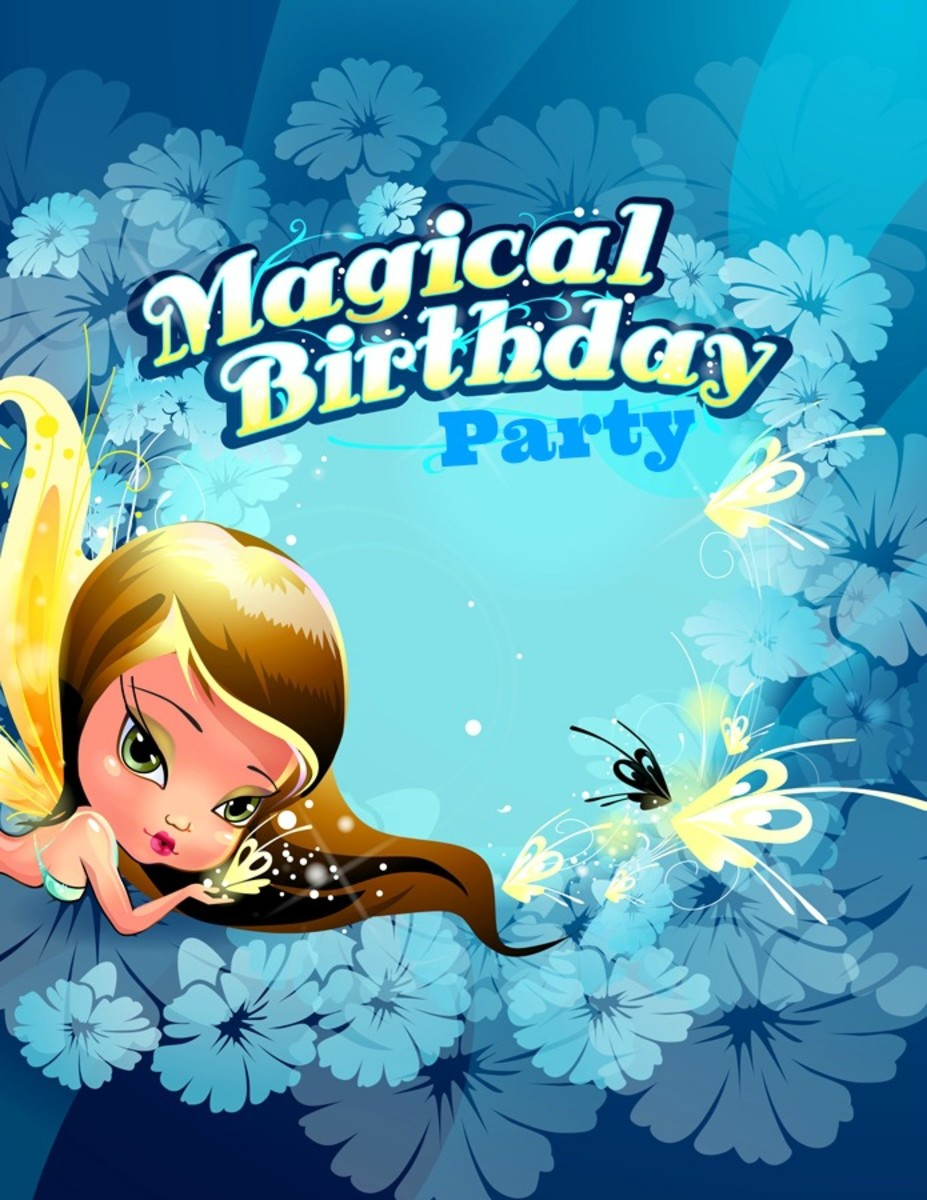 Magical Birthday Party Invitation Template