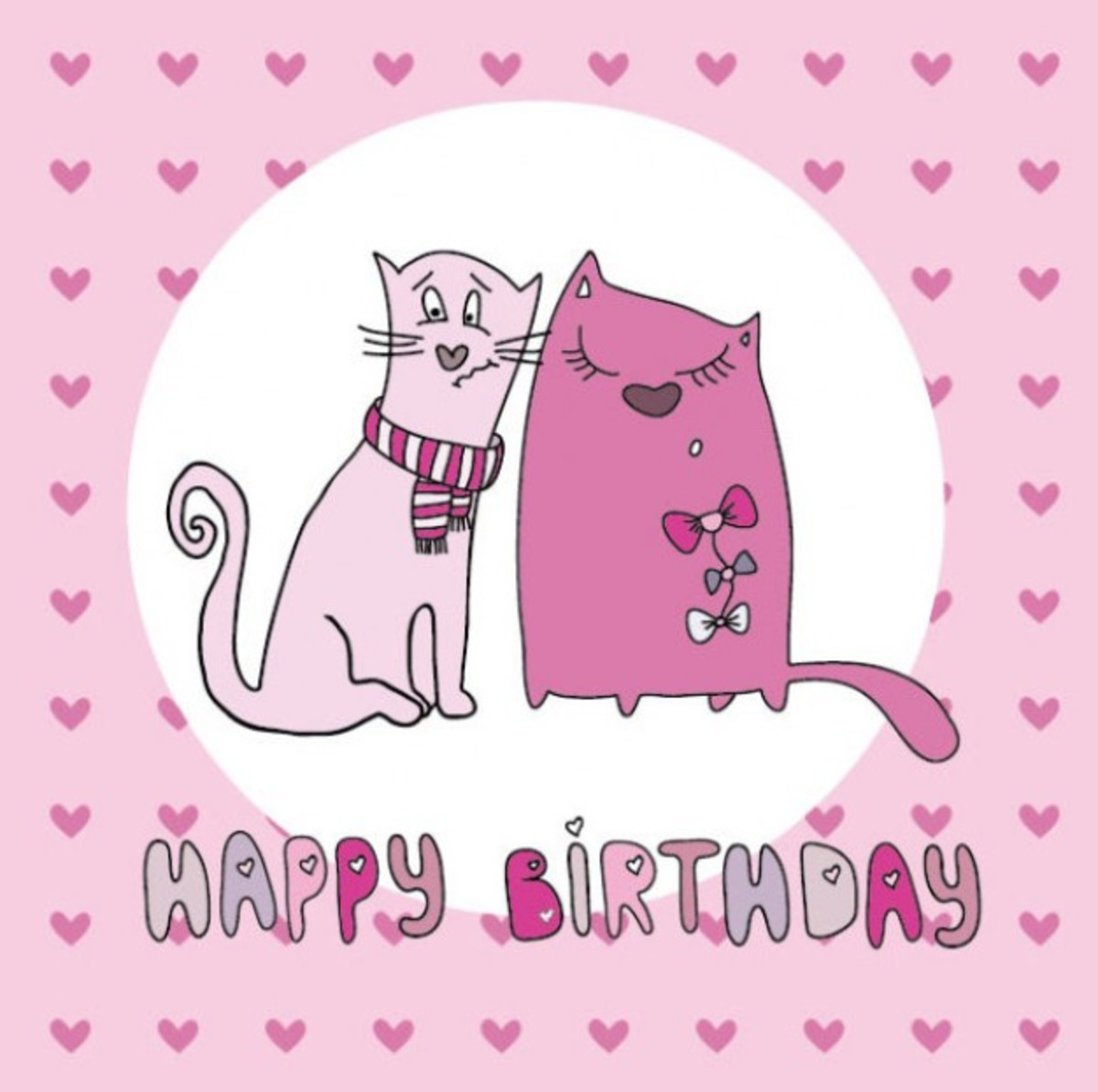 Happy Birthday with Two Cats