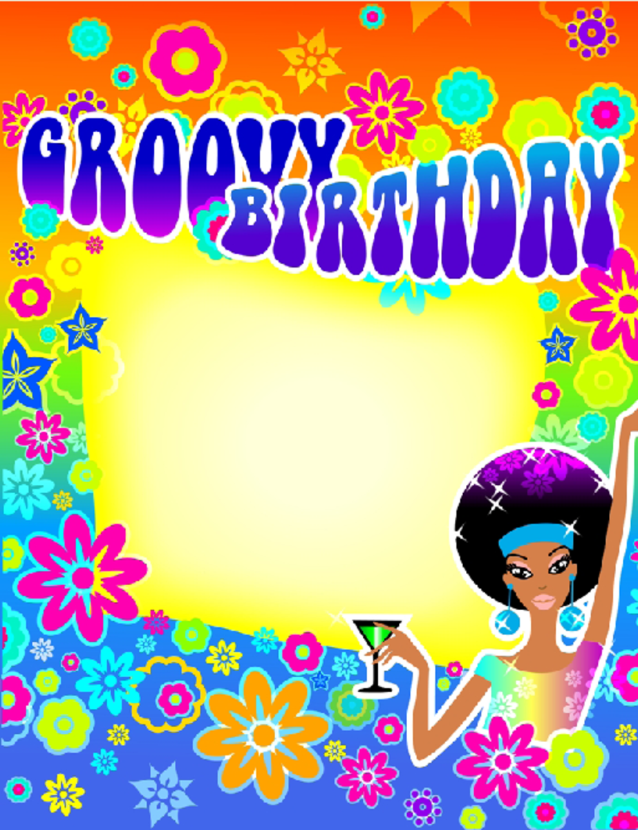 Groovy Birthday Party Invitation