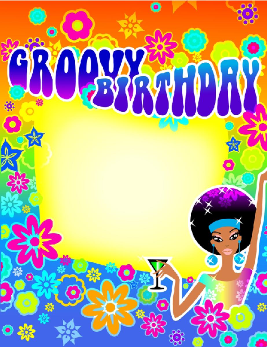 Groovy Birthday Party Invitation