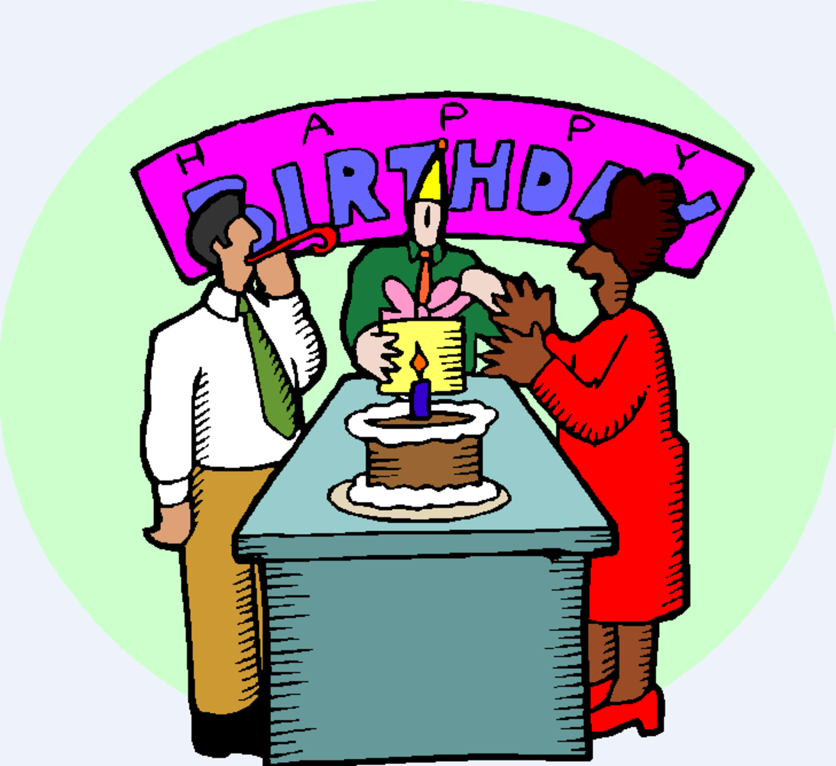 Office Birthday Party Graphic