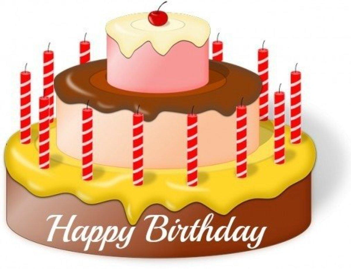 Three-Tier Happy Birthday Cake