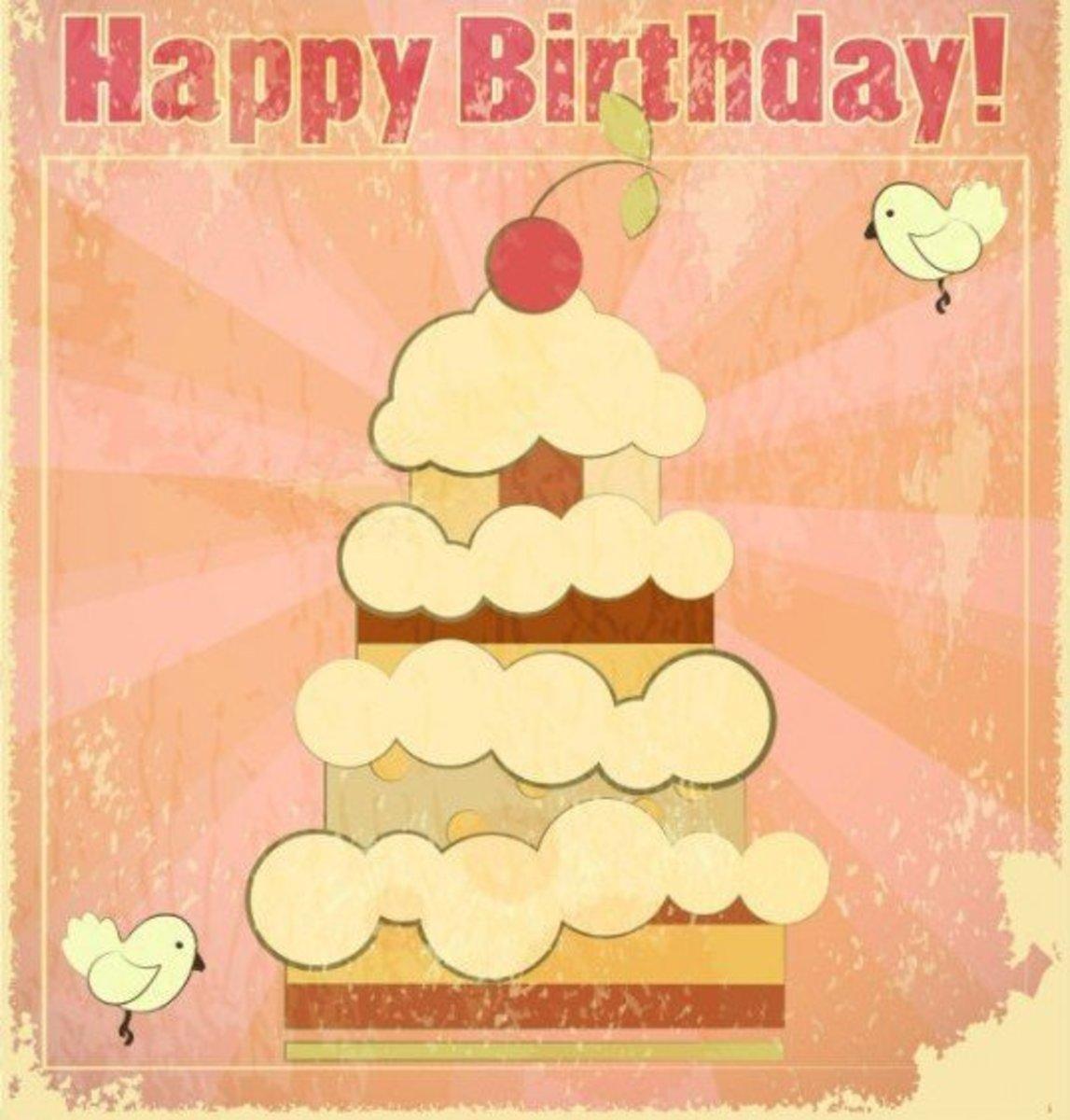 Grunge Birthday Cake Pic