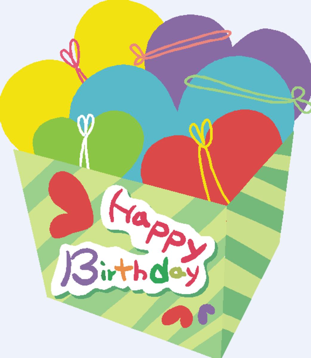 Happy Birthday with Box of Hearts