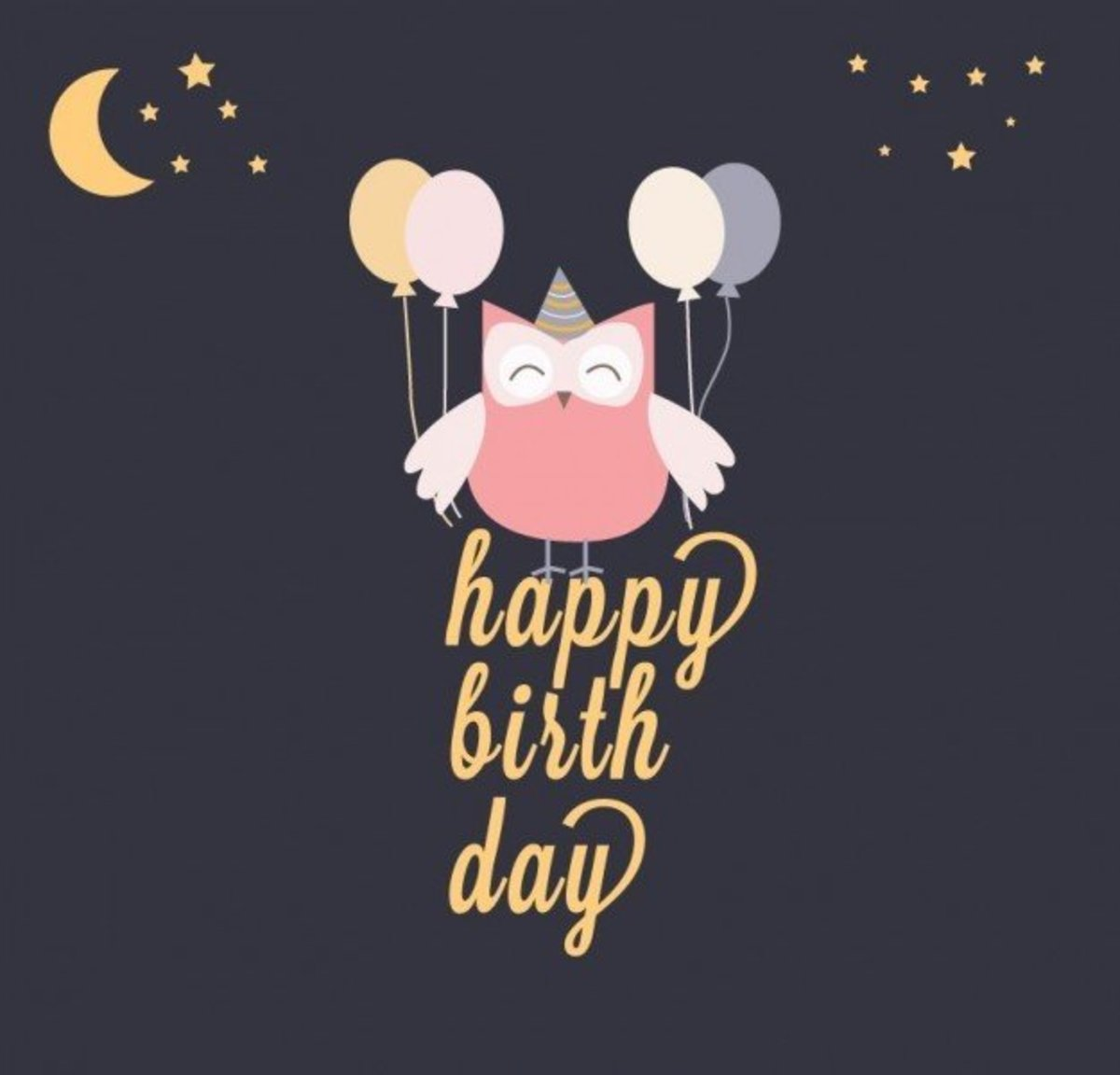 Happy Birthday with Owl