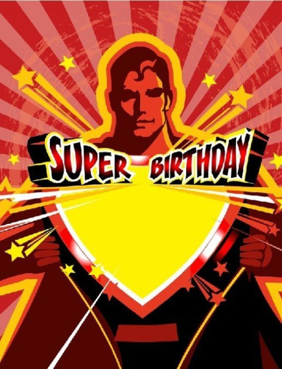 Super Birthday with Superman Graphic