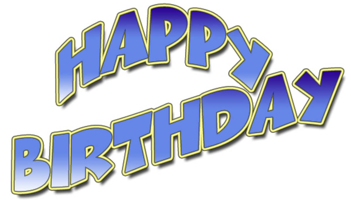 Happy Birthday with Blue Font