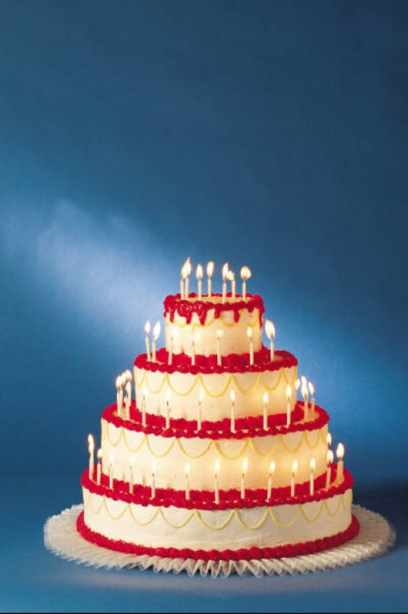 Photo of Four-Tier Birthday Cake