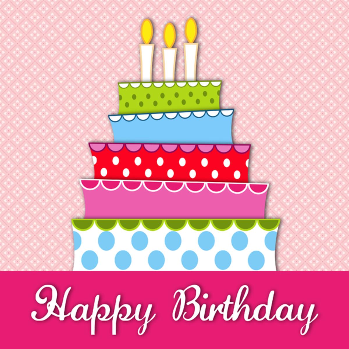 Five-Tier Happy Birthday Cake