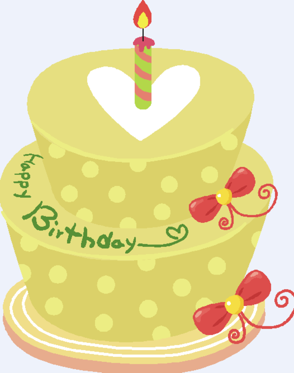 Birthday Cake with Heart on Top