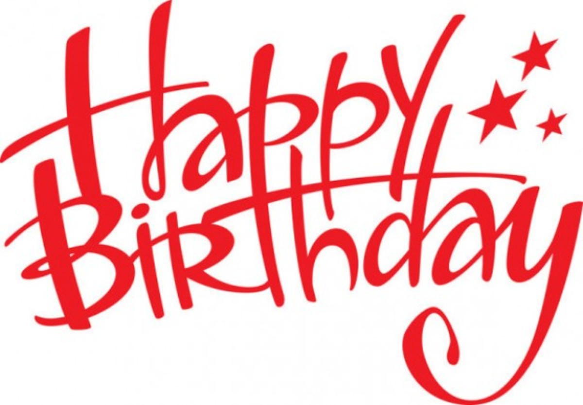 Happy Birthday with Red Font