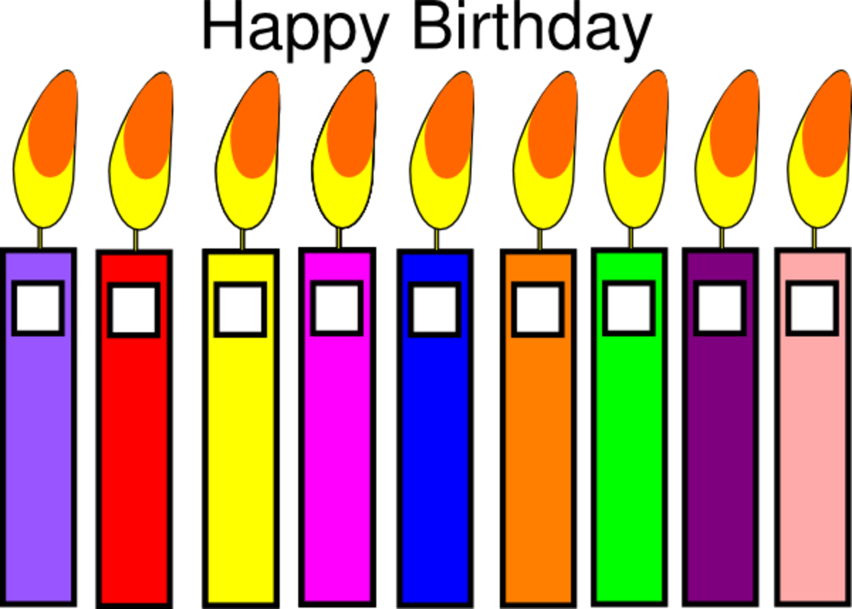 Happy Birthday with Candles in All Colors