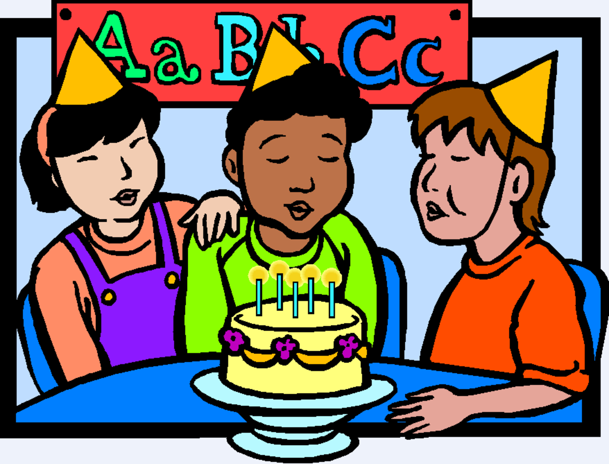 Birthday Party with Kids in Classroom